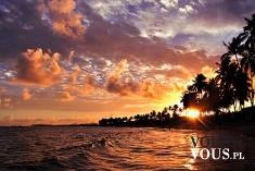 zachód słońca nad morzem, zachód słońca na wyspie