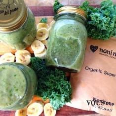 zielone smoothie, smothie z warzyw i banana