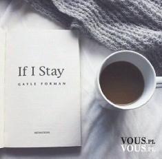 if i say, kawa, czytanie książki z kawą