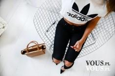 sportowa stylizacja, biały t-shirt, koszulka adidas, ubrania adidas