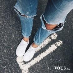 spodnie z dziurami, spodnie z przetarciami, dżinsy, spodnie na lato