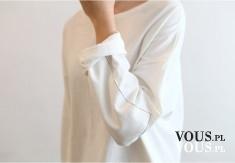 biała stylizacja, biała koszula, luźna bluzka, biała bluzka