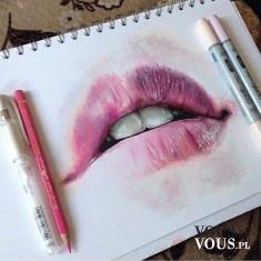 malowanie, talent malarski, jak narysować usta