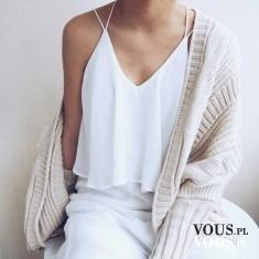 biała stylizacja, biała bluzeczka