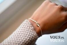 delikatna bransoletka, biżuteria na rękę
