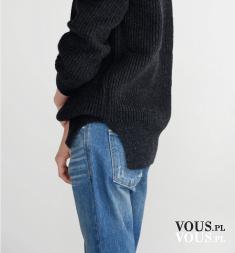 szeroki sweter