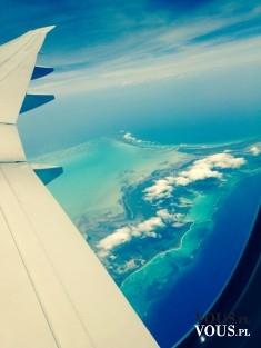 Widok z lotu samolotem.