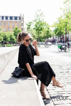 czarna długa sukienka na lato