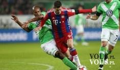 Bayern vs. Wolfsburg 5:1 – Robert Lewandowski 5 bramek w 9 minut, wszedł na boisko w 46 mi ...