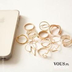 Nowa dostawa! Minimalistyczne złote pierścionki w sklepie OTIEN
