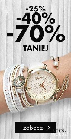 Zegarki damskie modowe np. z ażurową tarczą a do tego bransoletka w zestawie. Od dzisiaj jest ta ...