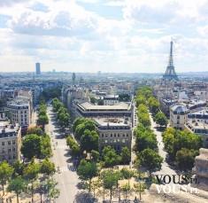 Panorama miasta. Paryż latem. Wieża Eiffla w Paryżu