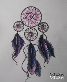 Pomysł na tatuaż! Cudowny łapacz snów w odcieniach różu i fioletu