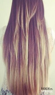Długie włosy ze złotymi refleksami, włosy muśnięte słońcem, złocisty blond