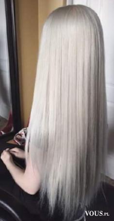 Platynowo-popielaty blond. Jak uzyskać taki kolor? Efekt siwych włosów.