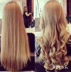Piękne długie, blond włosy. Przed i po- która wersja bardziej się wam podoba?