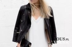 Czarna ramoneska, klasyczna ramoneska, kurtka z ekoskóry,