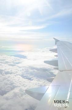 Z głową w chmurach <3 niesamowity i niepowtarzalny widok z samolotu