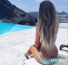 piękny kolor na bardzo długich włosach!!