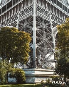 Wieża Eiffel'a z bliska