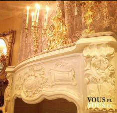 Bogate wnętrza, luksusowy salon, wnętrza z przepychem