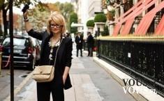 Street Fashion, czarna stylizacja, czarny strój i jasne dodatki, czarna marynarka