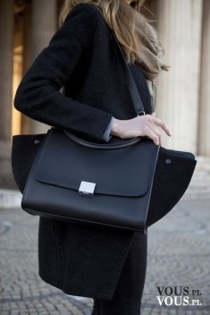 Duża czarna torba, pojemna torba na ramię, czarna torebka