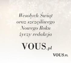 Życzenia Świąteczne od Vous!