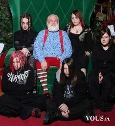 Śmieszne świąteczne zdjęcie, Mikołaj wśród gotów, Santa Claus
