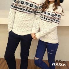 Sweterki w bożonarodzeniowe wzory, sweterki w gwiazdki, białe sweterki na święta. Gdzie kupie sw ...
