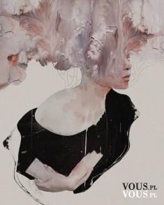 Piękny obraz kobiety, utalentowany artysta. Januz Miralles