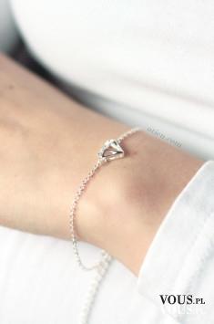 Bransoletka srebrna diamond diamencik delikatna minimalistyczna