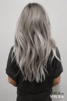 siwe długie włosy, moda lato 2016