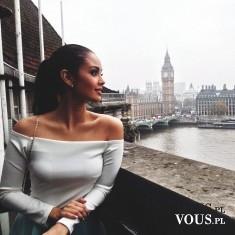 Śliczna dziewczyna w Londynie. Czy modelki mieszkają w Londynie?