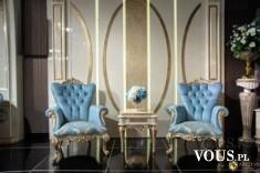 Ekskluzywne fotele i stolik kawowy Gloriano