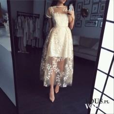 Przepiękna sukienka ślubna koronkowa