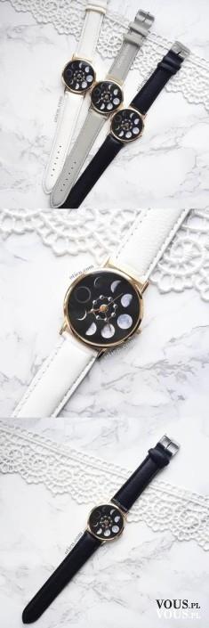Zegarek księżyc, śliczne oryginalne!
