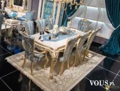 Stół z krzesłami do salonu Gloriano