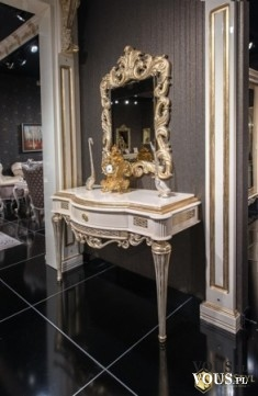 Stylowa konsola z lustrem Gloriano