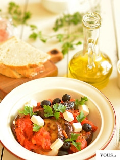 Bakłażany zapiekane w… zapiekanych pomidorach