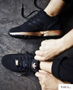 Adidas buty ZX Flux Shoes S78977 złota podeszwa