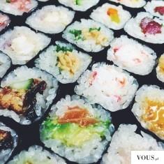 sushi, różne rodzaje