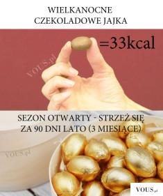 Jajko czekoladowe ile ma kalorii? Wielkanocne jajeczka czekoladowe kcal