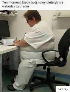 Gruby dietetyk, ufać takiemu? Czy ufacie lekarzom, którzy sami mają problemy ze zdrowiem? Jak on ...