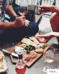wino, zdrowy obiad, obiad po francusku