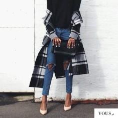 f a s h i o n ♡ cudowna elegancka stylizacja z płaszczem w kratę