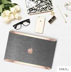 wspaniała obudowa na laptopa MacBook, różowe złoto