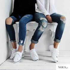 Super stylówki z białymi butami