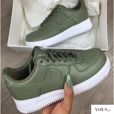 Nike shoes color khaki – zielone nike – Nike Buty NIKE AIR FORCE 1 '07 damskie
