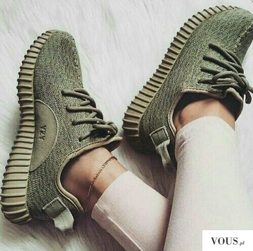 0f252c755d84 Adidas khaki YEEZY BOOST by Kanye West - zielone buty model ⋆ VOUS.pl